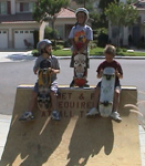skaters on a quarterpipe